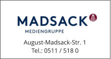 August-Madsack-Str. 1 Tel.: 0511 / 518 0